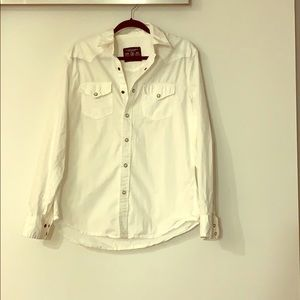 Men's American eagle bright white